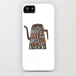 COFFE & LOVE iPhone Case
