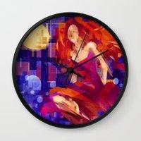 siren Wall Clocks featuring Siren by PlaidRed