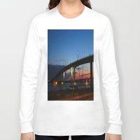 bridge Long Sleeve T-shirts featuring Bridge by Alyssa Gioia