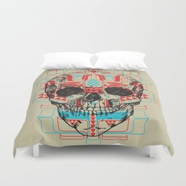 Skull Native Duvet Cover