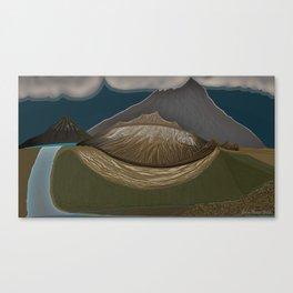 Glacier's uncovered idea Canvas Print