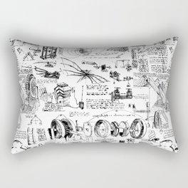 Da Vinci's Sketchbook Rectangular Pillow
