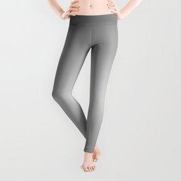 Gray to White Horizontal Bilinear Gradient Leggings