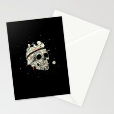 Planet Space Skull  Stationery Cards
