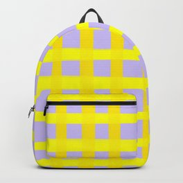 Gingham yellow and purple  Backpack