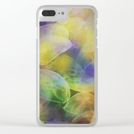 Jellyfish pattern Clear iPhone Case