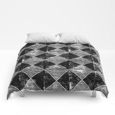 Chequers I Black Comforters