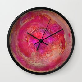 Abstract Pink Mandala 1054 Wall Clock