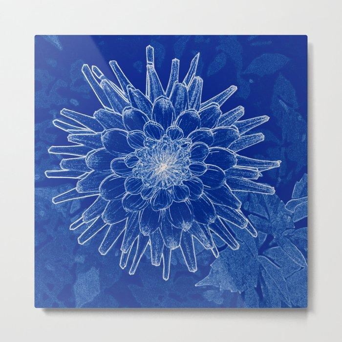 flower on blue Metal Print