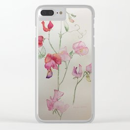 Sweetpea Summer Clear iPhone Case
