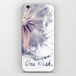 Dandelion Blue Graphic - Vertical iPhone Skin