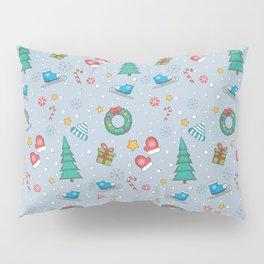 New Year Christmas winter holidays cute Pillow Sham