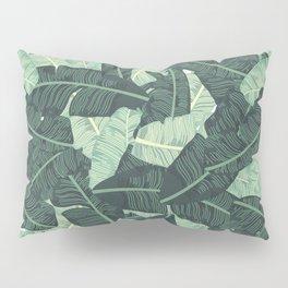 Miami Beach Banana Leaves Repeat in Green Pillow Sham