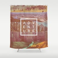 adventure Shower Curtains featuring Adventure by Zeke Tucker