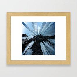 Sharp Cold Framed Art Print