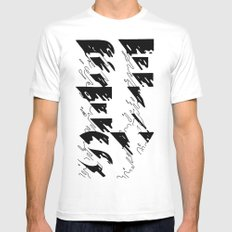 BE EASY MEDIUM Mens Fitted Tee White