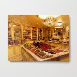 Chocolate Shop Metal Print