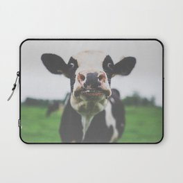 Funny Cow Photography print Laptop Sleeve