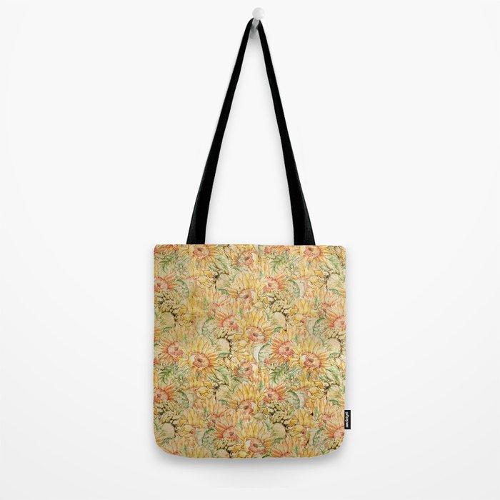 Vintage Sunflowers #1 Tote Bag