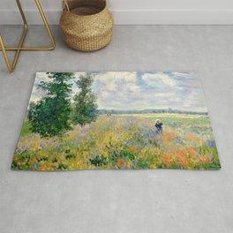 Poppy Fields near Argenteuil by Claude Monet Rug