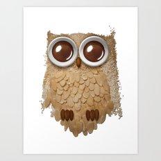 Owl Collage #6 Art Print