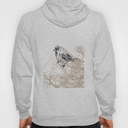 Bird black and white sketch Hoody