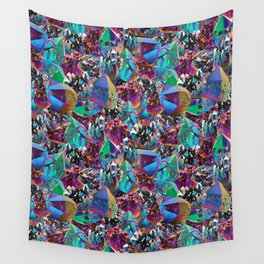 Oil Sick Rainbow Aura Crystals Wall Tapestry