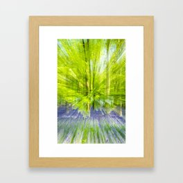Rushing through thebluebells Framed Art Print