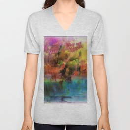 God Particle abstract Unisex V-Neck