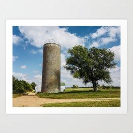 Farm Scene in Murdock Kansas Art Print