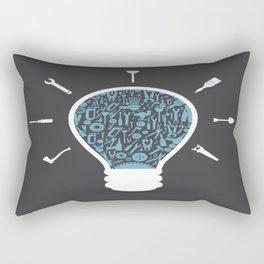 Lamp with tools inside Rectangular Pillow