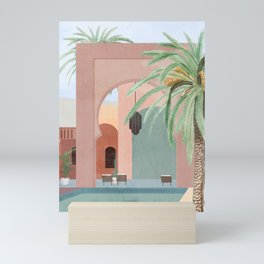 Moroccan Pool Mini Art Print
