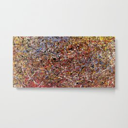ELECTRIC 071 - Jackson Pollock style abstract design art, abstract painting Metal Print