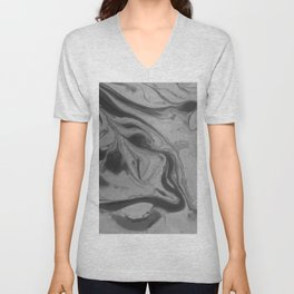 Black and grey marble Unisex V-Neck