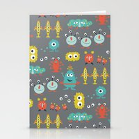aliens Stationery Cards featuring Aliens by Jill Byers