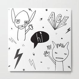 Hi! Yo! Ace! Metal Print