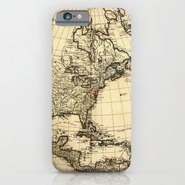 Amérique Septentrionale, Map of North America (1758) iPhone Case