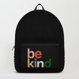 be kind colors rainbow Backpack