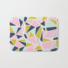 Colour Blocking Navy Pink Mustard Bath Mat