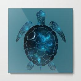 space turtle Metal Print