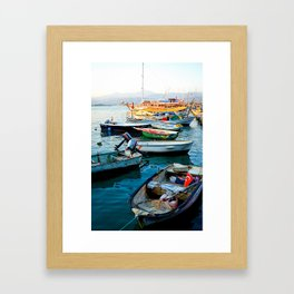 Turkish Boats Framed Art Print