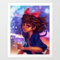 kiki Art Prints featuring Kiki by RSArts