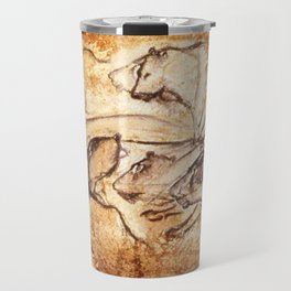 Panel of Lions // Chauvet Cave Travel Mug