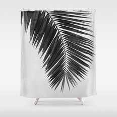 Palm Leaf Black & White I Shower Curtain