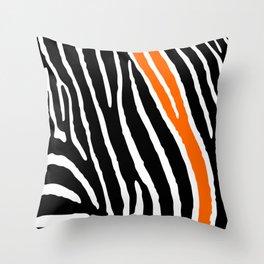 Orange Zebra Throw Pillow