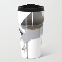 White Grand Piano Travel Mug