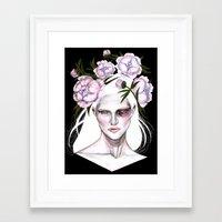 sasha grey Framed Art Prints featuring Sasha by Rose Ellen Swenson