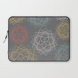 Dark Pastel Origami Blooms Laptop Sleeve