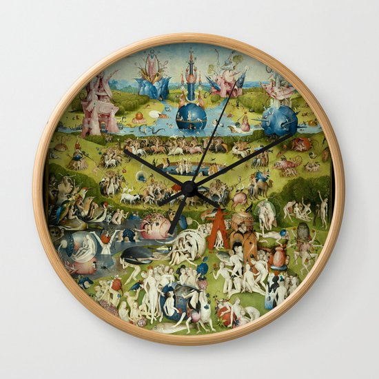 Hieronymus Bosch The Garden Of Earthly Delights Wall Clock ...Bosch Garden Of Earthly Delights Outside