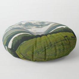 Lake in scottish Highlands Floor Pillow